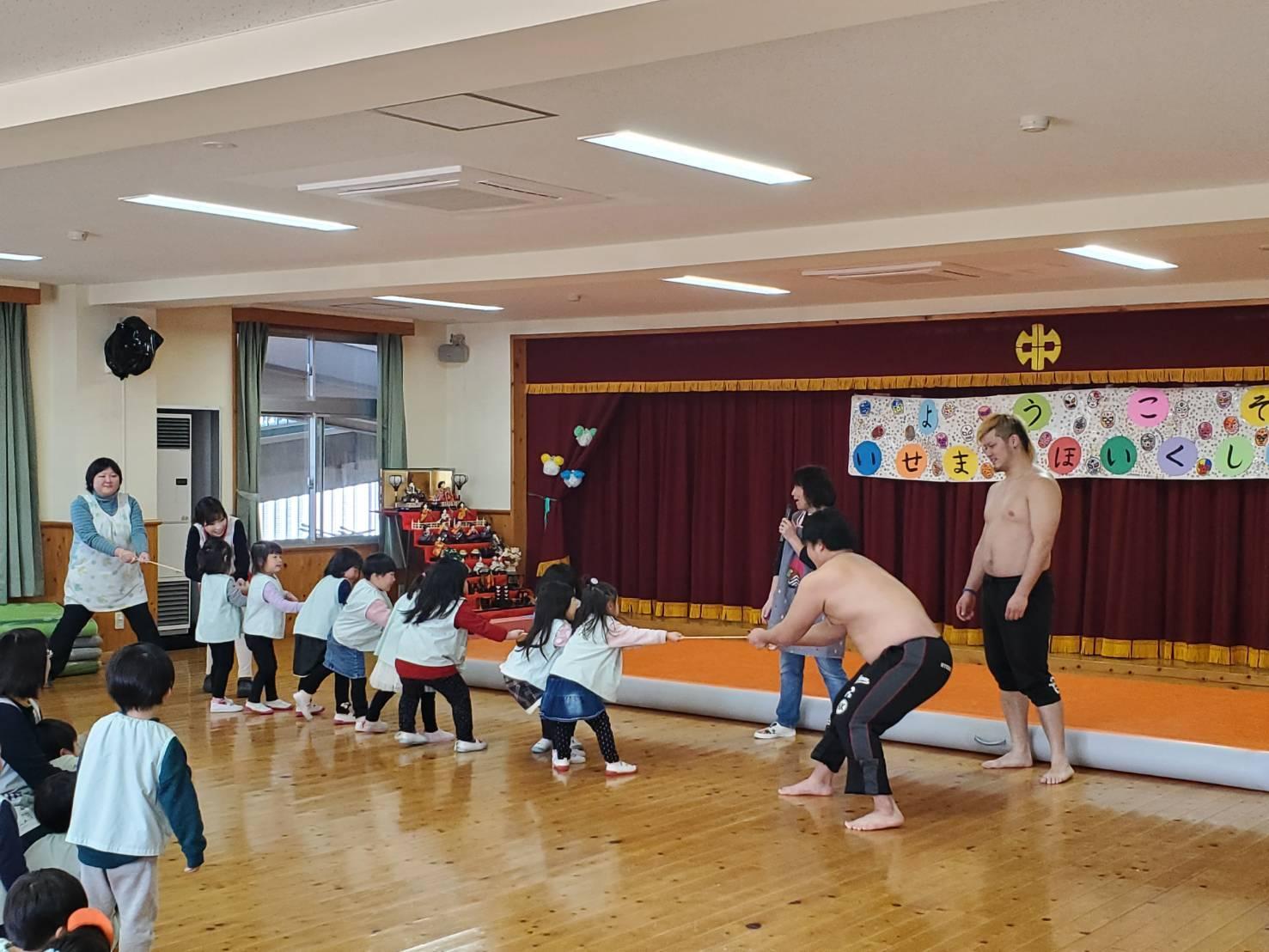 【報告】大日本プロレスが中之条保育所と中之条伊勢町保育所を訪問いたしました