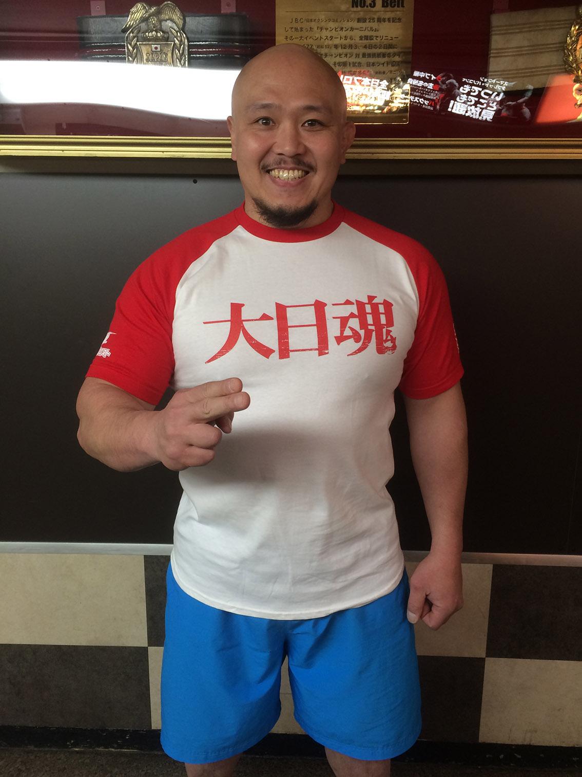 スポンサー名入りTシャツ、好評発売中!大日魂(赤)燃やしま専科verTシャツ