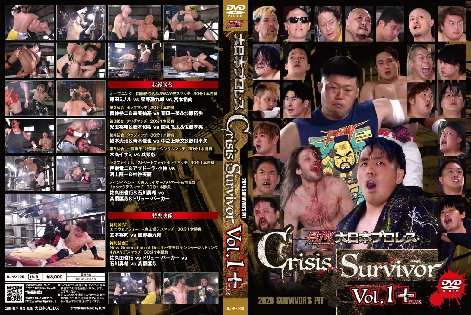 【DVD-R】Crisis Survivor・Vol.1+