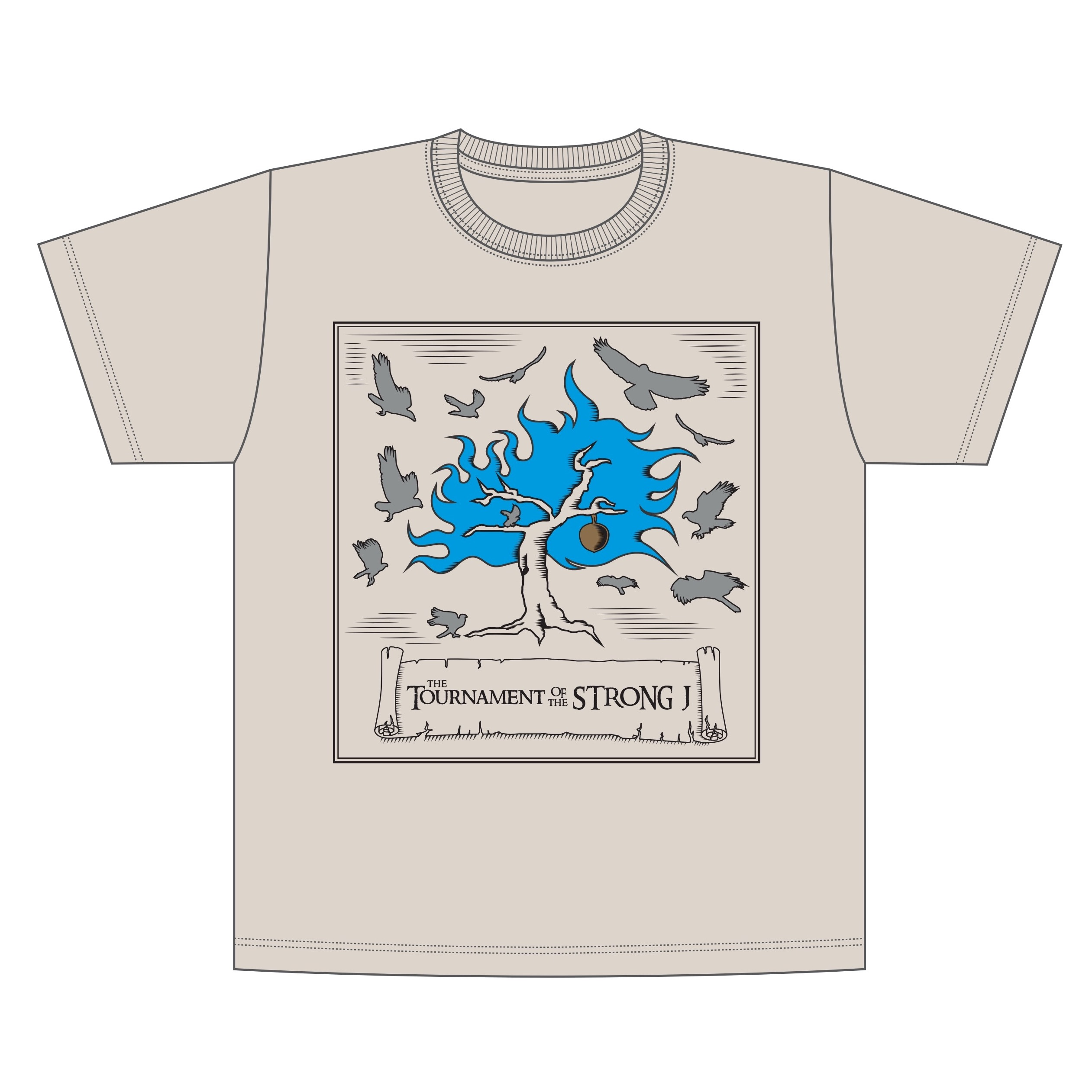「ReOStaff株式会社コラボグッズ」THE TOURNAMENT OF THE STRONG J Tシャツ