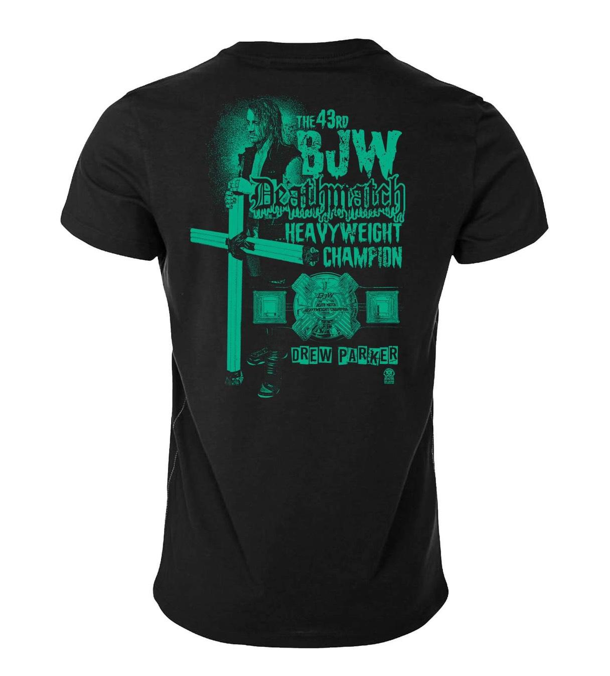 ドリュー・パーカー BJW認定デスマッチヘビー級初戴冠記念Tシャツ